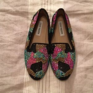 Steve Madden Multi Colored Jeweled loafers